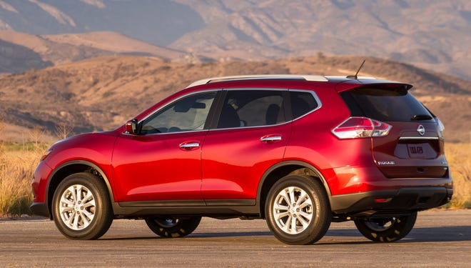Nissan's redesigned 2014 Rogue SUV gave the brand a sales boost in December.