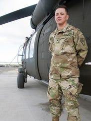 Nevada Army National Guard Sgt. Sam Hunt, an electrician
