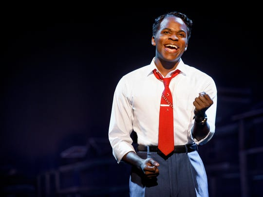 "Kenneth Mosley as Berry Gordy in ""Motown the Musical."""