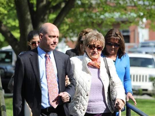 Roseanne Cassano of Yonkers arrives at Mamaroneck Village Court, Thursday, May 10, 2018. She was charged with drunken driving in a May 6, 2018, crash into Enzo's Ristorante that injured nnie people.