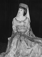 "Sallyanne Bachman appears in the role of Guinevere in a Melodyland production of ""Camelot"" in the late 1970s."