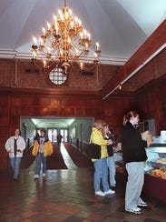 The lobby area of the Mamaroneck Playhouse in Mamaroneck