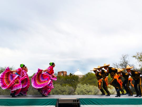 Folklorico dancers are a popular attraction of the