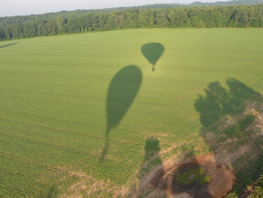 A view from the Dreamship balloon during the Battle