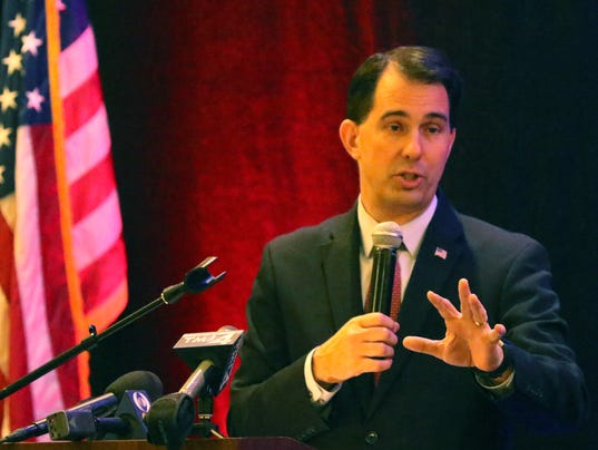 Gov. Walker talks with Pewaukee Chamber