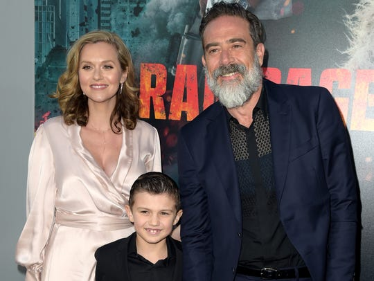 Jeffrey Dean Morgan, his wife Hilarie Burton and their