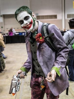 Seth Ray, dressed as the Joker at the Indiana Comic Con.