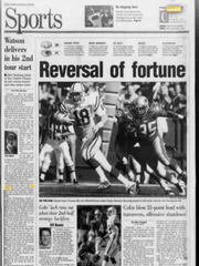 Sports front from Sept. 20, 1999