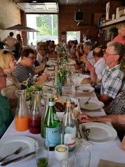 Slow Foods South Jersey held a brunch at Windy Acres Farm featuring regional cheeses.