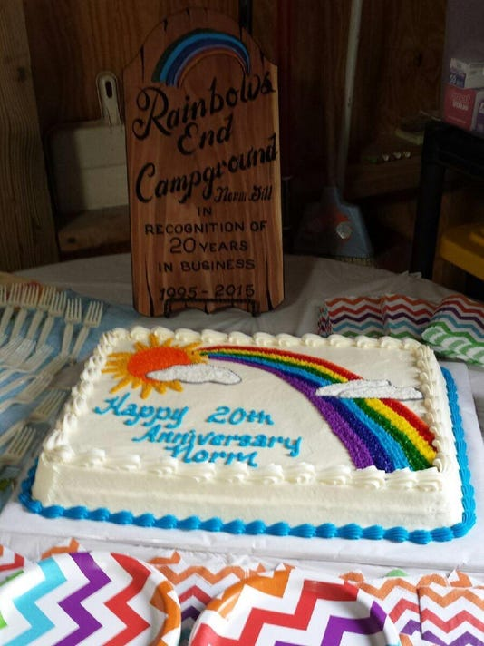 cake and plaque