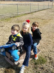 Children play at Sheltering Tree Ranch