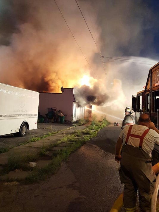 Firefighters battled the blaze early this morning.