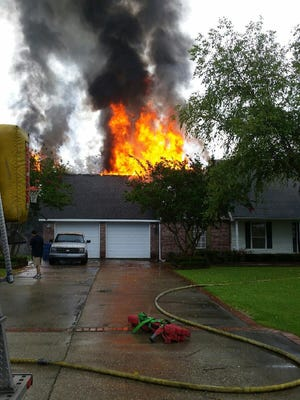 Lightning was determined to be the cause of a house fire in Scott Tuesday.