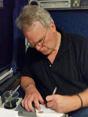 Jon Ausman aboard the plane to Philidelphia for the DNC.