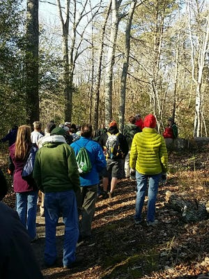 """The Parvin State Park Appreciation Committee hosted its first – """"First day walk at Parvin"""" – on Jan. 1."""
