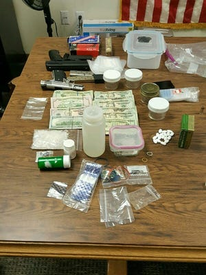 A joint operation with the Unicoi County Sheriff's Office led to the seizure of more than $10,000, two firearms and more than a quarter pound of methamphetamines.