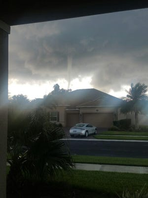 Photo of a waterspout taken in North Brevard.