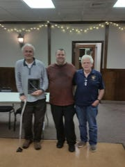 From left: Joe Rea, Grand Knight Joe McGeehan and Tom