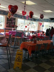 White Castle will host their Valentine's Day celebration again this year, complete with hearts, tablecloths and tableside service.