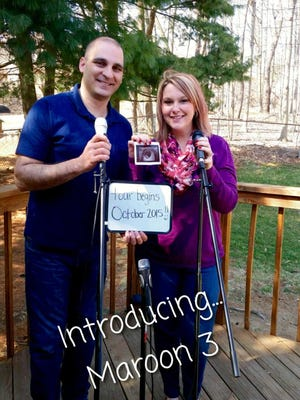 The couple's pregnancy announcement.