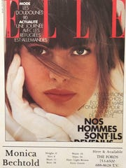 A photo of the cover of ELLE 1987, on which Monica Skeisvoll was pictured.