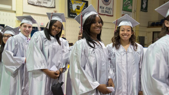 County College of Morris graduates received their degrees Friday at Mennen Arena.