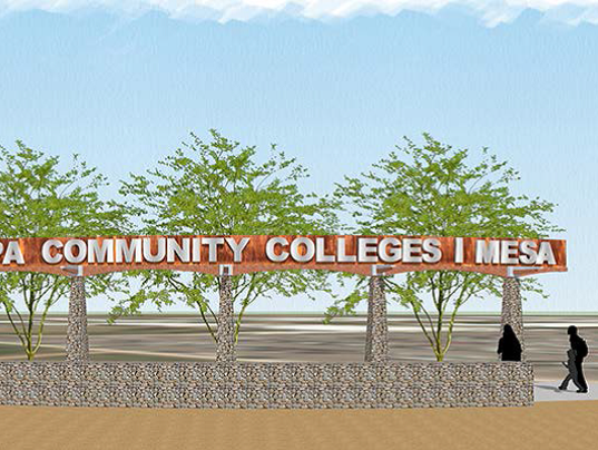 Mesa Community College proposed sign