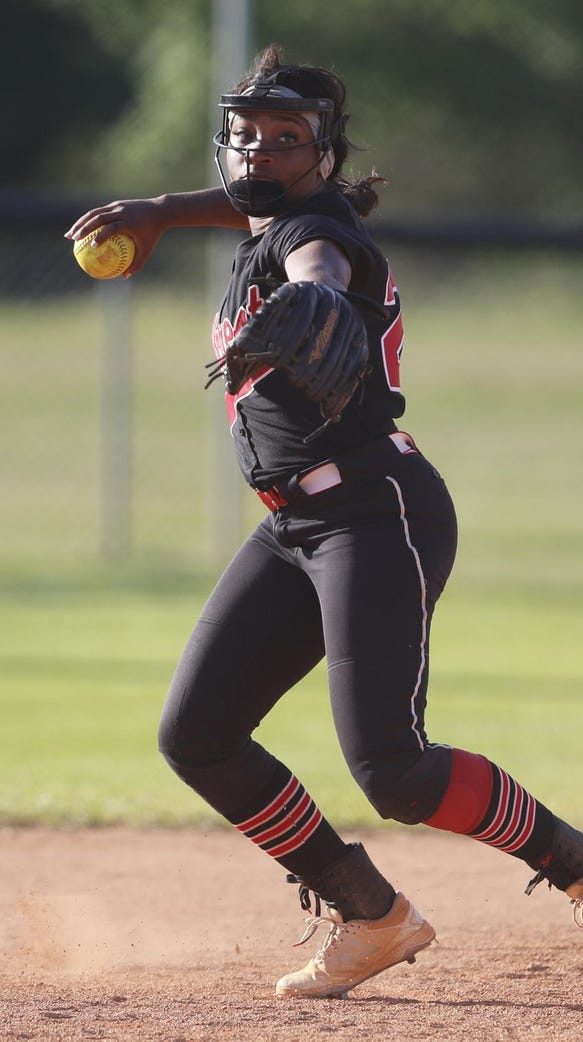 Junior shortstop Alexis Hargrove, who led Hillcrest