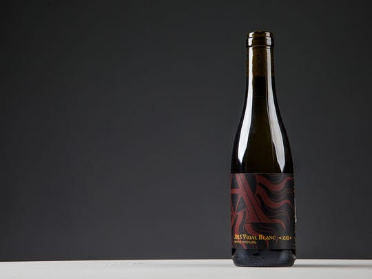 """This is the winner of GROWER'S CUP BEST DESSERT, Arizona Stronghold Vineyards, 2015 Vidal Blanc """"Zas"""" of the 2016 Arizona Republic Wine Competition, Monday, December 12, 2016."""