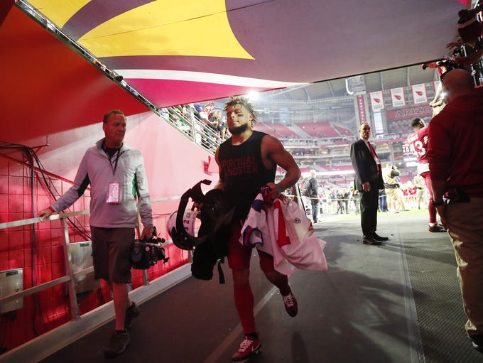 Arizona Cardinals free safety Tyrann Mathieu (32) runs