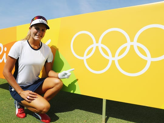 Lexi Thompson of the USA and the world's top female
