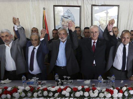 Yahya Sinwar,Majid Faraj,Ismail Haniyeh,Rami Hamdallah