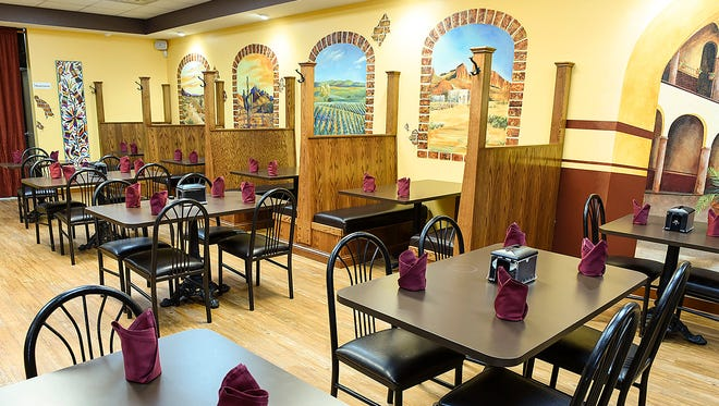 The dining area of the new Anejos restaurant Wednesday, April 5, opening soon in Waite Park.