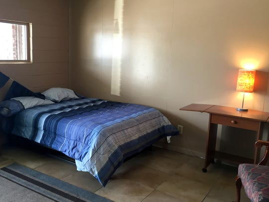 A room at Freedom's Rest, a domestic abuse shelter