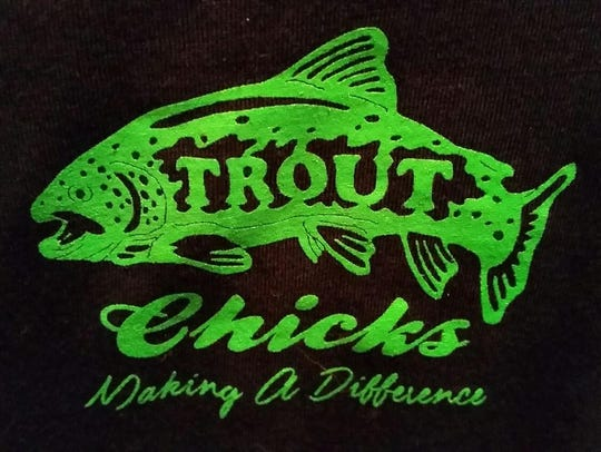 The Trout Chick's logo. The group is part of the Arkansas