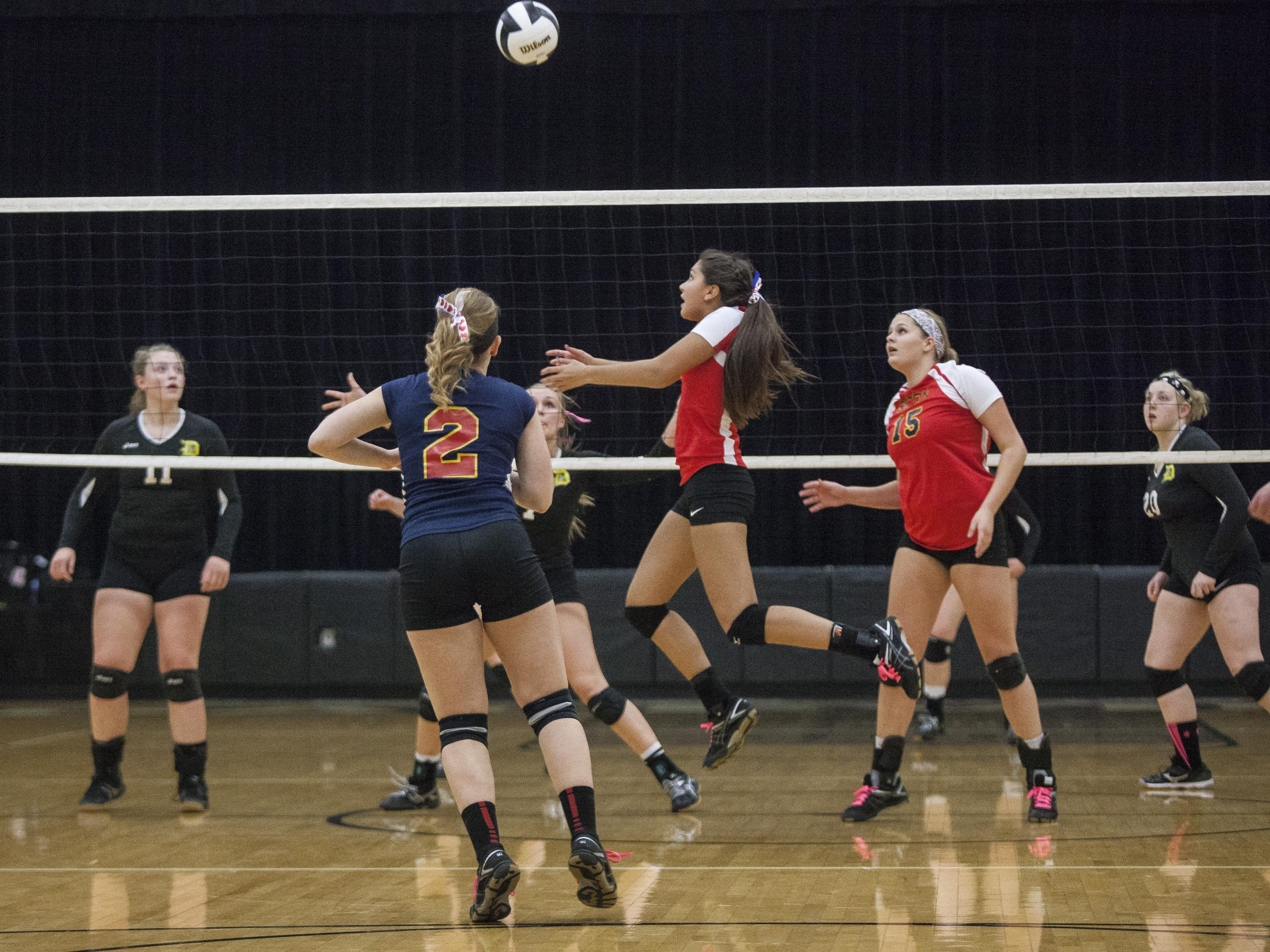 Seton Catholic sets up another attack against Daleville Tuesday during the 1A Daleville Regional at Daleville. Seton Catholic won 3-1.