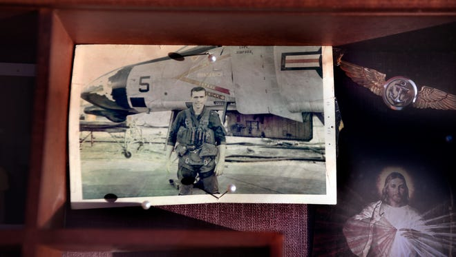 A photo of 1st Lt. William Ryan in front of an F-4 Phantom in Vietnam. Ryan was killed in action on May 11, 1969.