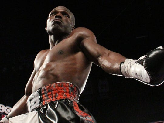 Timothy Bradley Jr. after retaining his WBO Welterweight Championship belt at the Thomas and Mack Center in Las Vegas, Nevada on November 7, 2015. Bradley won the bout via a TKO over Brandon Rios.