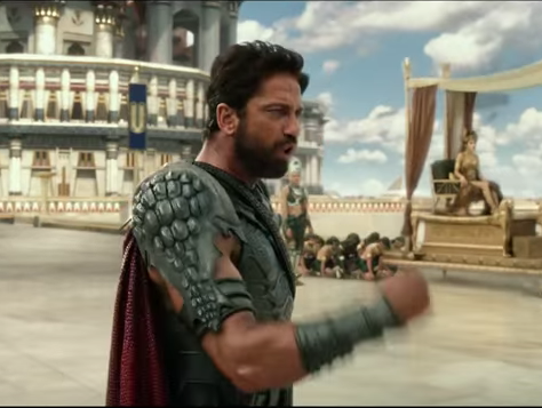 Gerard Butler as the Egyptian god Set in 'Gods of Egypt.'