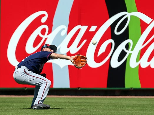 March 5: Twins center fielder Zack Granite  misjudges