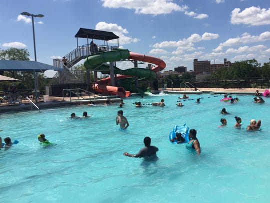 Residents enjoy San Angelo's Love Municipal Pool on June 20, 2017