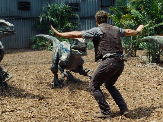 "Chris Pratt stars in ""Jurrassic World."""