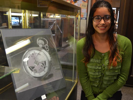 """Eli DelValle, 18, of Bridgeton won Best of Show in the Italian Heritage Art Show with her piece titled """"White Rabbit."""" She attends Bridgeton High School."""