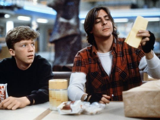 """Anthony Michael Hall and Judd Nelson in John Hughes' """"The Breakfast Club"""" from 1985."""
