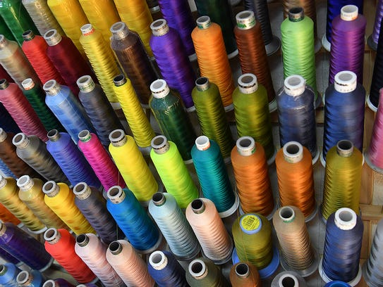 A wide variety of colors and thread types are available