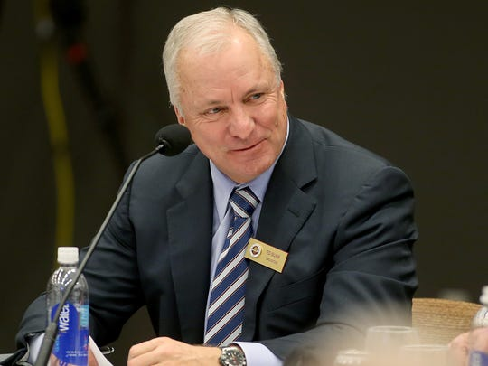 FSU Trustee Ed Burr participates in a discussion during a meeting at Turnbull Center in June 2014.