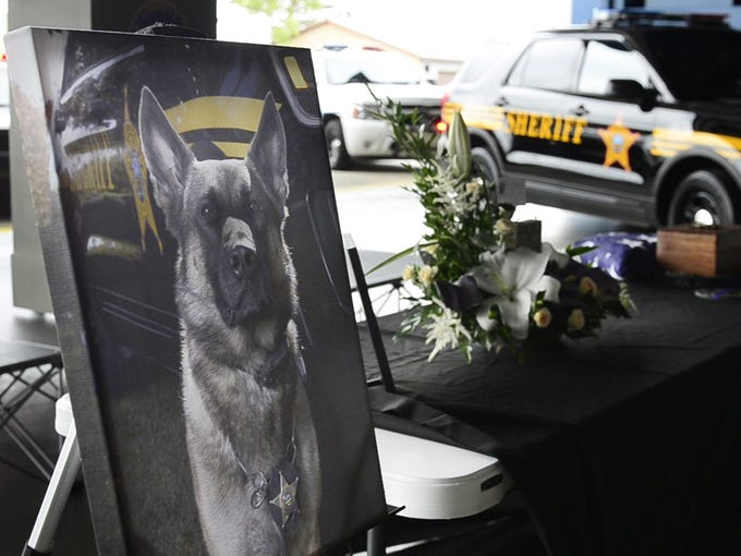 A memorial service is held for K9 Nero, the Ottawa