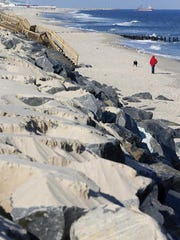 Recent winter storms have stripped away the sand that