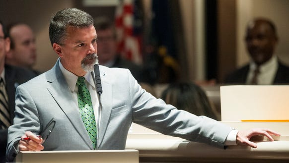 Rep. Mark Tuggle during the legislative session at