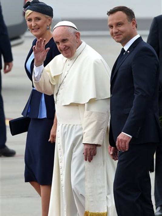 Pope Francis,Andrzej Duda,Agata Kornhauser Duda